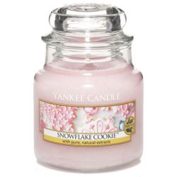 Yankee Candle Jar Glaskerze klein 104g Snowflake Cookie
