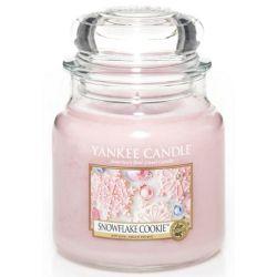 Yankee Candle Jar Glaskerze mittel 411g Snowflake Cookie