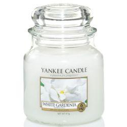 Yankee Candle Jar Glaskerze mittel 411g White Gardenia *