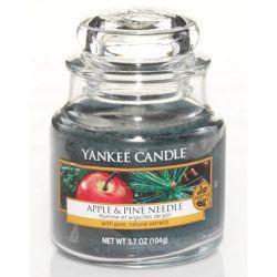 Yankee Candle Jar Glaskerze klein 104g Apple & Pine Needle *