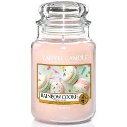 Yankee Candle Jar Glaskerze groß 623g Rainbow Cookie