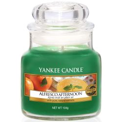 Yankee Candle Jar Glaskerze klein 104g Alfresco Afternoon
