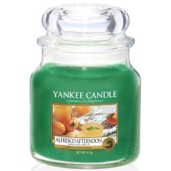 Yankee Candle Jar Glaskerze mittel 411g Alfresco Afternoon