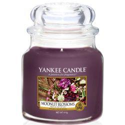 Yankee Candle Jar Glaskerze mittel 411g Moonlit Blossoms