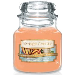 Yankee Candle Jar Glaskerze klein 104g Grilled Peaches & Vanilla