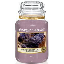 Yankee Candle Jar Glaskerze groß 623g Dried Lavender & Oak