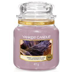 Yankee Candle Jar Glaskerze mittel 411g Dried Lavender & Oak