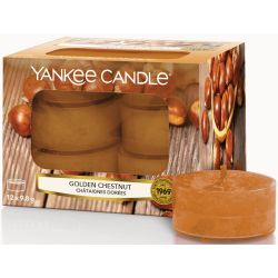 Yankee Candle Teelichter 12er Pack Golden Chestnut