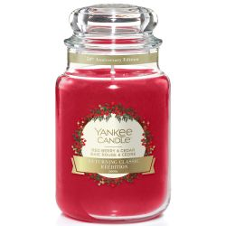 Yankee Candle Jar Glaskerze groß 623g Red Berry & Cedar