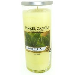 Yankee Candle Pillar Glaskerze gross 538g White Tea *