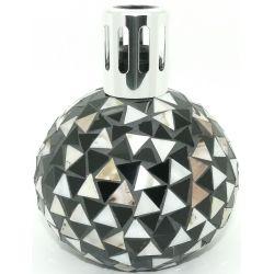 Katalytische Duftlampe Millefiori Lampair Mosaik schwarz weiß - 2. Wahl